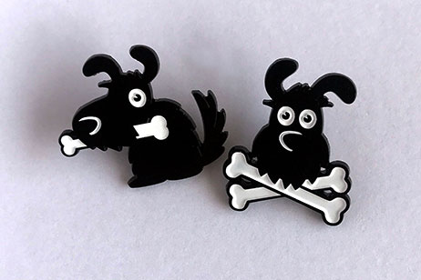 Bilo (the dog) pins
